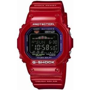 [カシオ] 腕時計 ジーショック G-LIDE 電波ソーラー GWX-5600C-4JF レッド|blackmacerstore