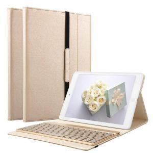 KVAGO iPad 9.7 キーボードケース 着脱式 ワイヤレス Bluetooth キーボード 7色バックライト 固定用弾性バンド付き PUレザーケース オートスリープ スタン|blackmacerstore