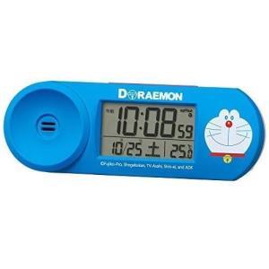 ●商品名:セイコー クロック 目覚まし時計 ドラえもん 電波 デジタル 大音量 青 CQ614L S...