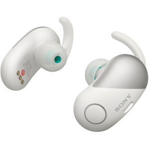 ソニー SONY 完全ワイヤレスノイズキャンセリングイヤホン WF-SP700N WM : Bluetooth対応 左右分離型 防滴仕様 2018年モデル ホワイト|blackmacerstore