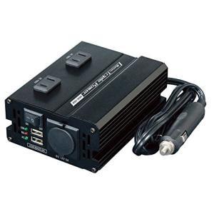 メルテック DCDCインバーター 静音タイプ 3way(USB&コンセント&アクセサリーソケット) ...