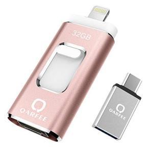 iPhone USBメモリー 32GB 最新版 フラッシュドライブ 3in1 iPhone/PC/Android/iPad IOS12対応 OTG Type- Cアダプタ付き(ピンク)|blackmacerstore