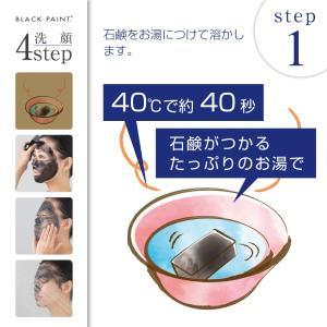 毛穴を洗う石鹸 ブラックペイント 洗顔 120g blackpaint 03