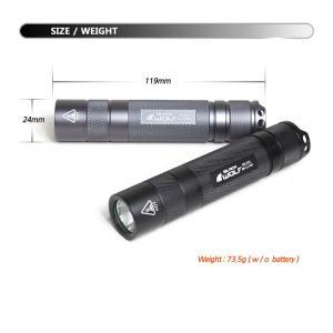 【BLACK WOLF】KR-A10 CREE XLamp XM-L2を搭載し、Max950ルーメンを放ちます。対象物が暗所から3Dのように現れます。電子回路は眼精疲労や脱力感を軽減。 blackwolf 03