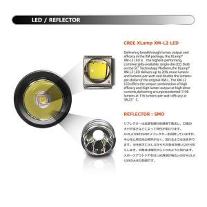 【BLACK WOLF】KR-A10 CREE XLamp XM-L2を搭載し、Max950ルーメンを放ちます。対象物が暗所から3Dのように現れます。電子回路は眼精疲労や脱力感を軽減。 blackwolf 04