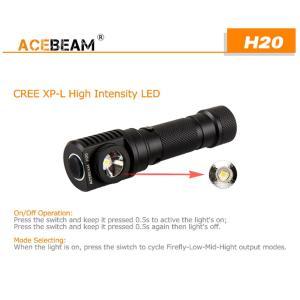 【ACEBEAM】ヘッドライト[リフレクタータイプ] H20 CreeXLamp XP-L HI LED(色温度4000K)1000ルーメン★閃光ライト 米国 アメリカ|blackwolf|06