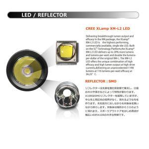 【BLACK WOLF】A10R 本体で充電ができるライトです。CREE XLamp XM-L2を搭載し爆光を放ちます。対象物が暗所から3Dのように現れます。電子回路は疲労や脱力抑制|blackwolf|04