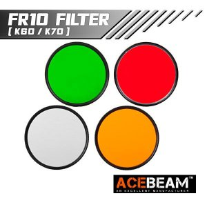 【ACEBEAM(エースビーム)】K60・K70用フィルター★閃光ハンドライト 米国 アメリカ|blackwolf