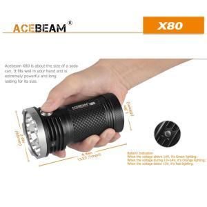 【ACEBEAM】X80明るさ25000ルーメン爆光!CREE XLamp XHP50*12、XPE2(カラー)。多くのライトマニアをも魅了さる注文度が高いブランドです。光を楽しむ。 blackwolf 04