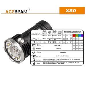 【ACEBEAM】X80明るさ25000ルーメン爆光!CREE XLamp XHP50*12、XPE2(カラー)。多くのライトマニアをも魅了さる注文度が高いブランドです。光を楽しむ。 blackwolf 07