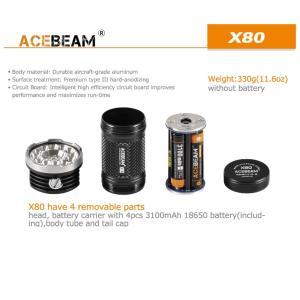 【ACEBEAM】X80明るさ25000ルーメン爆光!CREE XLamp XHP50*12、XPE2(カラー)。多くのライトマニアをも魅了さる注文度が高いブランドです。光を楽しむ。 blackwolf 08