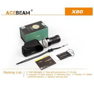 【ACEBEAM】X80明るさ25000ルーメン爆光!CREE XLamp XHP50*12、XPE2(カラー)。多くのライトマニアをも魅了さる注文度が高いブランドです。光を楽しむ。 blackwolf 09