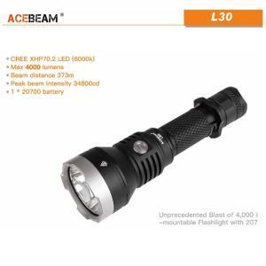 【ACEBEAM】L30 明るさ4000ルーメン爆光!CREE XLamp XHP70.2。多くのライトマニアをも魅了させてしまう注文度が高いブランドです。光をお楽しみください。 blackwolf 02