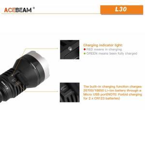 【ACEBEAM】L30 明るさ4000ルーメン爆光!CREE XLamp XHP70.2。多くのライトマニアをも魅了させてしまう注文度が高いブランドです。光をお楽しみください。 blackwolf 03