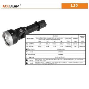 【ACEBEAM】L30 明るさ4000ルーメン爆光!CREE XLamp XHP70.2。多くのライトマニアをも魅了させてしまう注文度が高いブランドです。光をお楽しみください。 blackwolf 05
