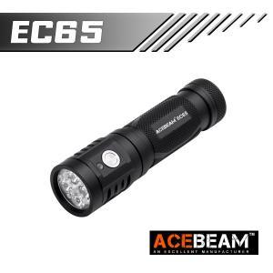 ACEBEAM EC65 LEDハンディライトエースビーム ブラック 充電式 防水IPX8 釣り爆光 閃光 アウトドア 釣り キャンプ 登山 懐中電灯 防災 防犯|blackwolf