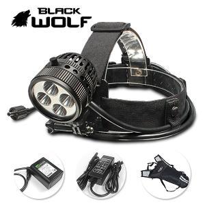LEDヘッドライト フィッシングライト 洞窟探索 工具 産業用 建築建設用 作業灯 BLACKWOLF K5 4500ルーメン blackwolf