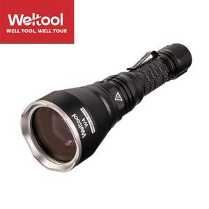 Weltool(ウェルツール) W4 LEDハンディライトエースビーム ブラック 充電式 防水IPX8 釣り爆光 閃光 アウトドア 釣り キャンプ 登山 懐中電灯 防災 防犯 blackwolf
