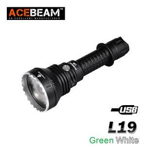 ACEBEAM L19 LEDハンディライトエースビーム ブラック 充電式 防水IPX8 釣り爆光 閃光 アウトドア 釣り キャンプ 登山 懐中電灯 防災 防犯|blackwolf