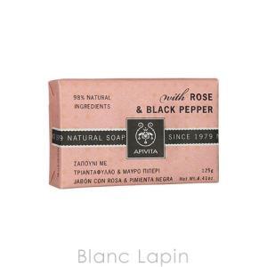アピヴィータ APIVITA ナチュラルソープ ローズ&ブラックペッパー 125g [025885]【メール便可】|blanc-lapin