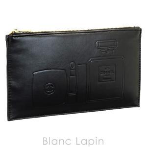 【ノベルティ】 シャネル CHANEL コスメポーチ フラット #ブラック [045306]|blanc-lapin