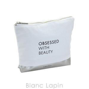 【ノベルティ】 カルバンクライン Calvin Klein コスメポーチ #ホワイト/シルバー [689858]|blanc-lapin