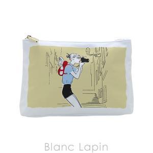 【バッグ・ポーチ汚れ】【ノベルティ】 クラランス CLARINS コスメポーチ #ホワイトxイエロー [145106]|blanc-lapin