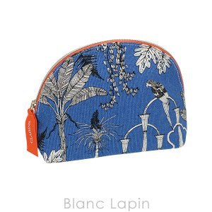【ノベルティ】 クラランス CLARINS コスメポーチ LAS POZAS GARDEN 【ガーデンコレクション】 #ブルー [405774]【メール便可】【hawks202110】|blanc-lapin