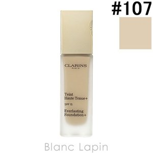 クラランス CLARINS エヴァーラスティングファンデーション+ SPF15 #107 ベージュ 30ml [071319]|blanc-lapin