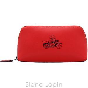 コーチ COACH コスメポーチ ミッキーレザーコスメティックケース F59820 #QB/Bright Red [874446]|blanc-lapin