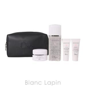 【ノベルティ】 クリスチャンディオール Dior ディオールスノーポーチセット9 #ブラック 15ml/50ml/7ml/7ml [057392]|blanc-lapin
