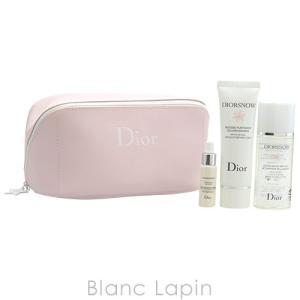 【ミニサイズセット】 クリスチャンディオール Dior ディオールスノースキンケアポーチセット [072142] blanc-lapin