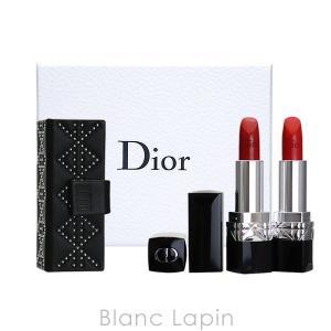 【容器不良】クリスチャンディオール Dior ルージュディオールデュオセット #999/#080 3.5gx2 [433792]|blanc-lapin