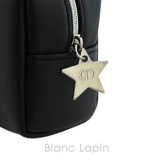 【ノベルティ】 クリスチャンディオール Dior コスメポーチスクエア スターチャーム #ブラック [056470] blanc-lapin 04