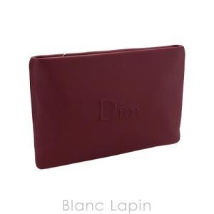 【ノベルティ】 クリスチャンディオール Dior コスメポーチ フラット #ボルドー [416641]【メール便可】 blanc-lapin