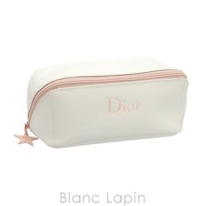 【バッグ・ポーチ汚れ】【ノベルティ】 クリスチャンディオール Dior コスメポーチ ワイドオープン #ホワイト [071787] blanc-lapin