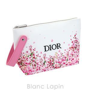 【ノベルティ】 クリスチャンディオール Dior コスメポーチ ミスディオールローズ&ローズ #ホワイト/ピンク [076812]【メール便可】 blanc-lapin