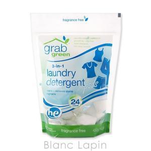 グラブグリーン GRAB GREEN 3-in-1ランドリーデタージェント無香料 432g [002012]|blanc-lapin