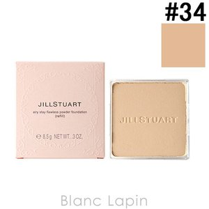 ジルスチュアート JILL STUART エアリーステイフローレスパウダーファンデーション レフィル #34 黄みのベージュ 8.5g [276039]【メール便可】|blanc-lapin