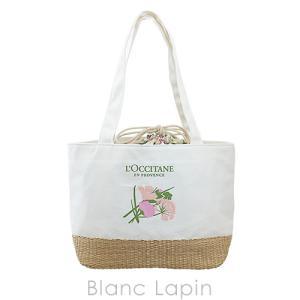【ノベルティ】 ロクシタン L'OCCITANE エルバブランシュバスケットトート #ホワイト [129716]|blanc-lapin