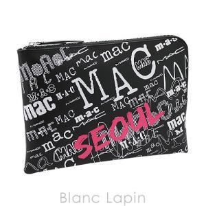 【ノベルティ】 マック M・A・C クラッチポーチ Lジップ #ブラック [072678] blanc-lapin