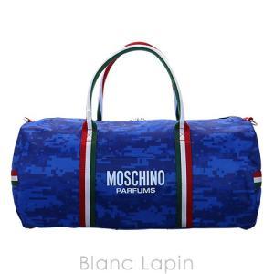 【ノベルティ】 モスキーノ MOSCHINO ボストンバッグ #ブルー [699728]|blanc-lapin