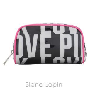 ヴィクトリアシークレット VICTORIA'S SECRET コスメポーチ スモールコスメティック #Pink Black White Love Logo [400063]|blanc-lapin