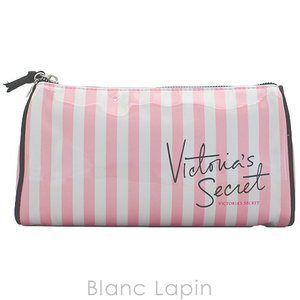 ヴィクトリアシークレット VICTORIA'S SECRET コスメポーチ ラージバッグ #Pink/White stripe [218670]|blanc-lapin