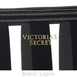 ヴィクトリアシークレット VICTORIA'S SECRET コスメポーチ フラット #ブラック/ホワイト [049137]|blanc-lapin|04