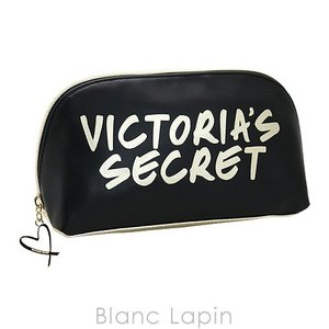 ヴィクトリアシークレット VICTORIA'S SECRET コスメポーチ サマーロゴミディアムポーチ #ブラック/ゴールド [429994]|blanc-lapin