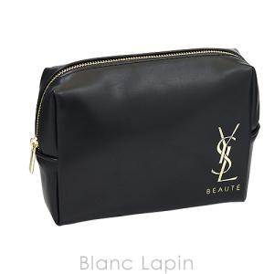 【ノベルティ】 イヴサンローラン YVES SAINT LAURENT コスメポーチ スクエア #ブラック [404115]|blanc-lapin