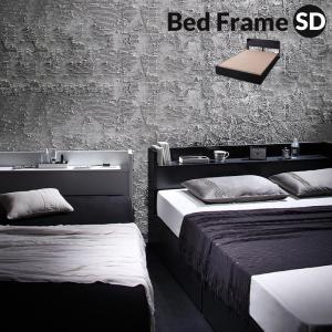 ベッド フレーム 収納付き セミダブル 引き出し 木製 棚 付き ローベッド ロータイプ おしゃれ ...