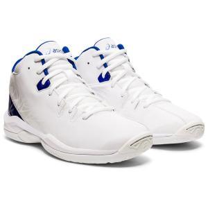 asics アシックス バスケットボールシューズ GEL-IMPROVE ホワイト×アシックスブルー 1124A005-103 店舗在庫 2021春夏|blanc-roche