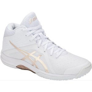 asics アシックス レディース バスケットボールシューズ LADY GELFAIRY 8 WHITE×FROSTED ALMOND TBF403-100 店舗在庫|blanc-roche